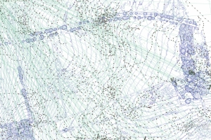 Bewegungsmuster von Agathe. Die Punkte (Fixes) zeigen Positionen auf einem digitalen Oberflächenmodell (DSM). © Luftpixel.com